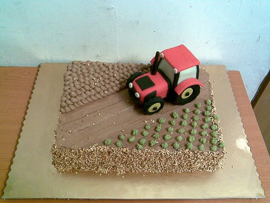 Торты мастер класс с трактором